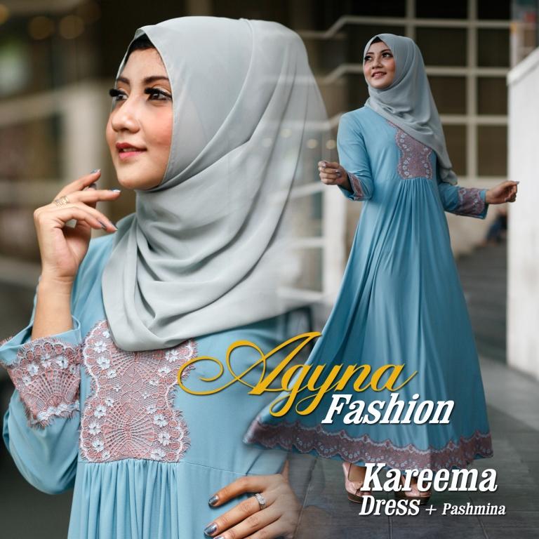 Trend Busana Muslim Wanita Modern Kareema by Agyna Hijau Tosca