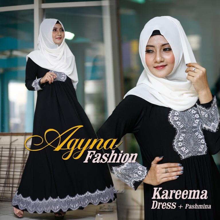 Trend Busana Muslim Wanita Modern Kareema by Agyna Hitam