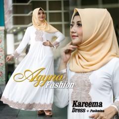 Trend Busana Muslim Wanita Modern Kareema by Agyna Putih