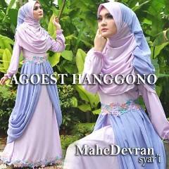 Trend Busana Muslim Wanita Modern Mahe Devran by Agoes Hanggono Biru Lavender