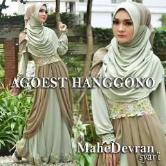 Trend Busana Muslim Wanita Modern Mahe Devran by Agoes Hanggono Hijau Khaki