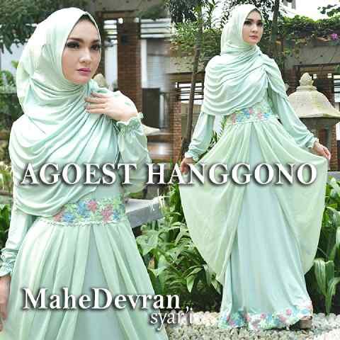 Trend Busana Muslim Wanita Modern Mahe Devran by Agoes Hanggono Mint
