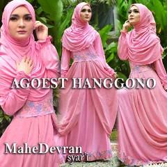 Trend Busana Muslim Wanita Modern Mahe Devran by Agoes Hanggono Pink