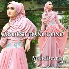 Trend Busana Muslim Wanita Modern Mahe Devran by Agoes Hanggono Soft Pink