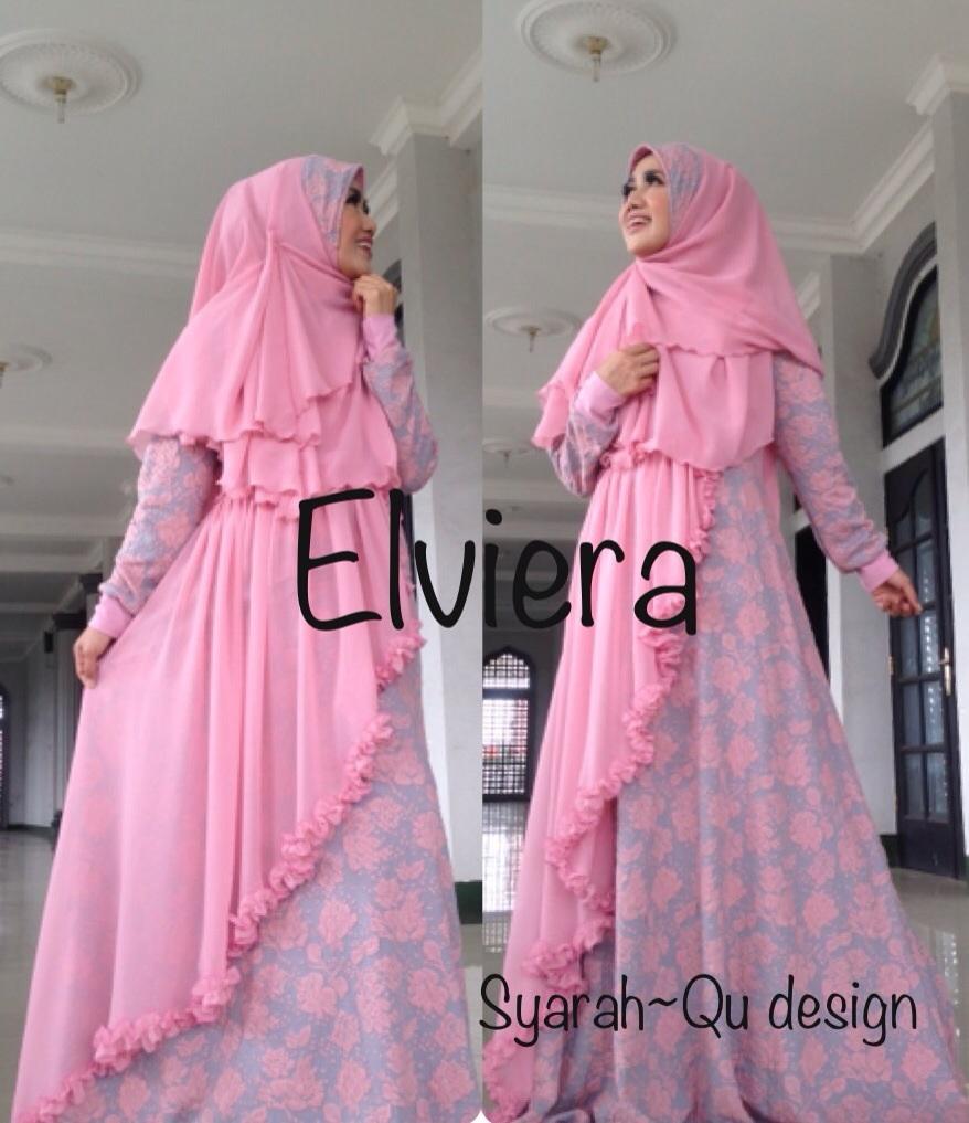 Trend Busana Muslim Wanita Syar'i Elvierna Pink