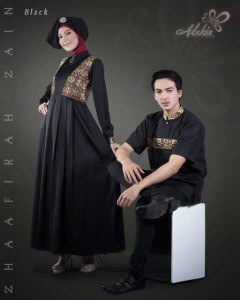 Trend Terbaru Busana Couple Terbaru Zhaafira Zain by Adzkia Fashion Black (1)