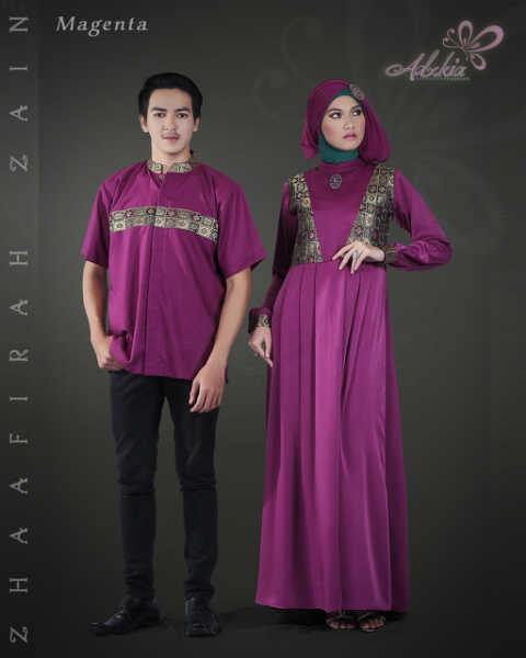 Trend Terbaru Busana Couple Terbaru Zhaafira Zain by Adzkia Fashion Magenta