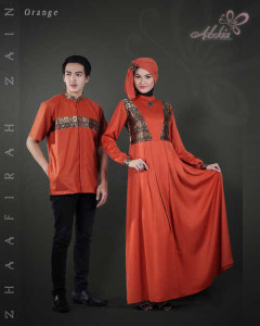 Trend Terbaru Busana Couple Terbaru Zhaafira Zain by Adzkia Fashion Orange