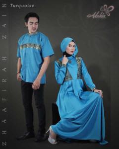 Trend Terbaru Busana Couple Terbaru Zhaafira Zain by Adzkia Fashion Turquice