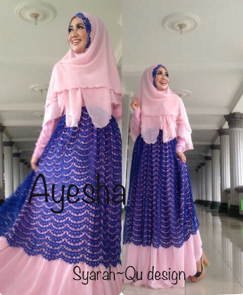Trend Terbaru Busana Muslim Wanita Syar'i Ayesha by Syarahqu Design (2) Pink