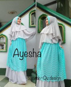 Trend Terbaru Busana Muslim Wanita Syar'i Ayesha by Syarahqu Design (4) Grey