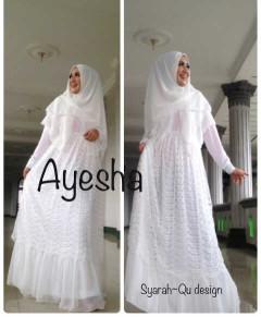 Trend Terbaru Busana Muslim Wanita Syar'i Ayesha by Syarahqu Design (5) Putih