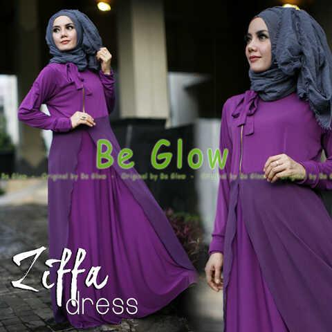 Trend Terbaru Busana Muslim Ziffa by Be Glow (10) Ungu