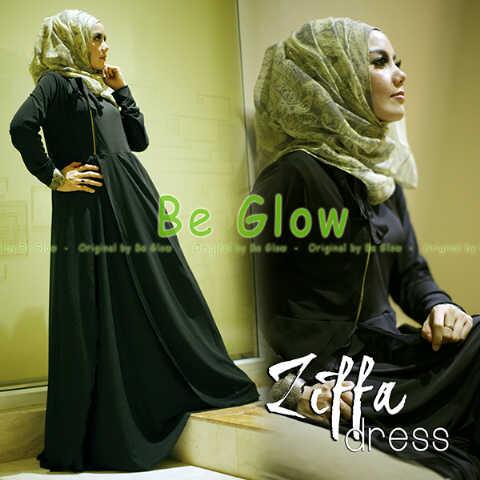 Trend Terbaru Busana Muslim Ziffa by Be Glow (4)  Hitam