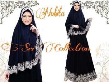 Trend Terbaru Busana Muslimah Nobita Syar'i by Sri Collection Hitam