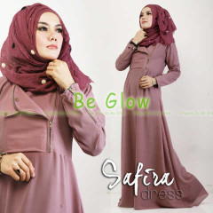 Trend Terbaru Busana muslim Modern Safira by Be Glow Dusty Purple