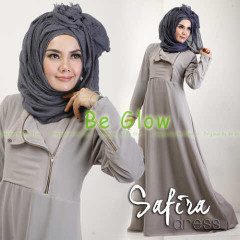 Trend Terbaru Busana muslim Modern Safira by Be Glow Grey
