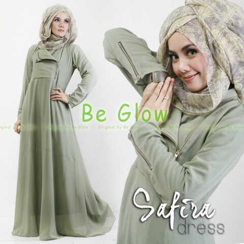 Trend Terbaru Busana muslim Modern Safira by Be Glow Hijau