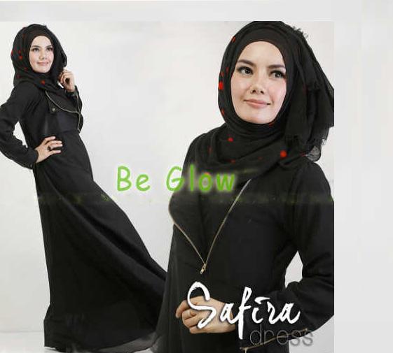 Trend Terbaru Busana muslim Modern Safira by Be Glow Hitam