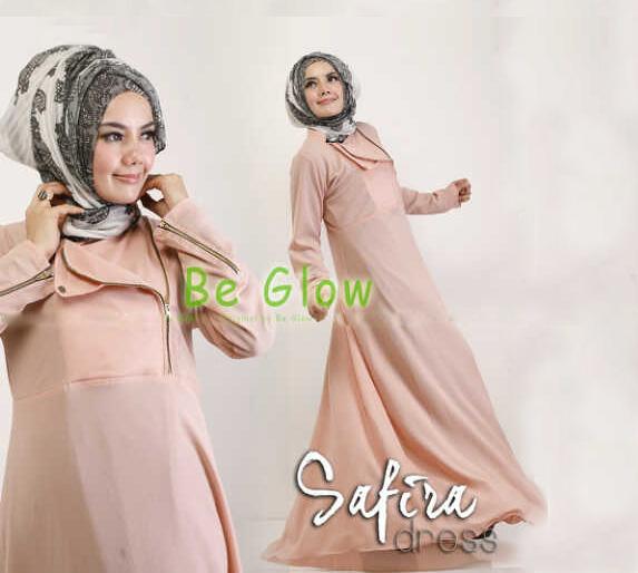 Trend Terbaru Busana muslim Modern Safira by Be Glow Peach