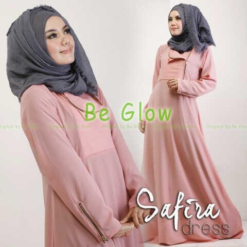 Trend Terbaru Busana muslim Modern Safira by Be Glow Pink