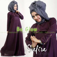 Trend Terbaru Busana muslim Modern Safira by Be Glow Purple