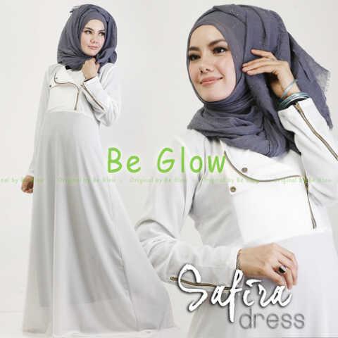 Safira Putih Baju Muslim Gamis Modern