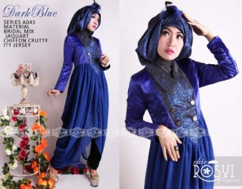 Baju Muslim Terbaru Balimo Rosy Dark Blue