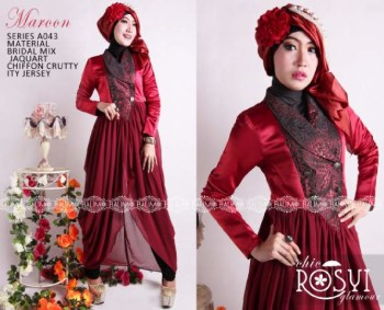 Baju Muslim Terbaru Balimo Rosy Maroon