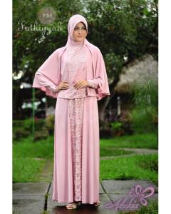 Baju Muslim Wanita Modern Fathiyyah by Adzkia Pink