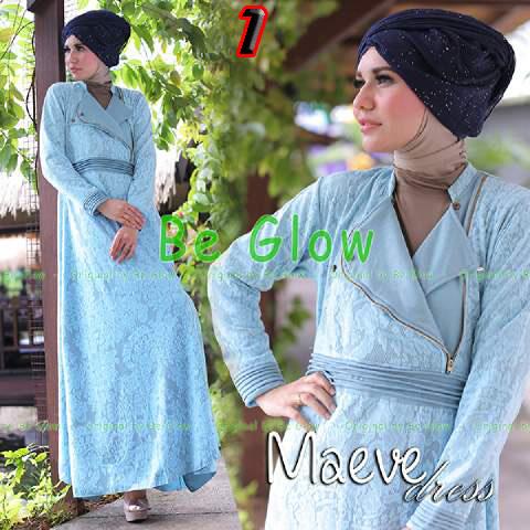 Busana Mjuslim Dress Terbaru Maeve by Be Glow 1