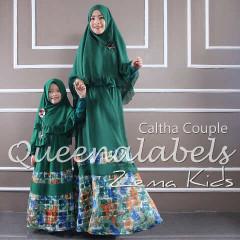 Busana Muslim Couple Ibu & Anak Terbaru Caltha by Quennalabel Hijau