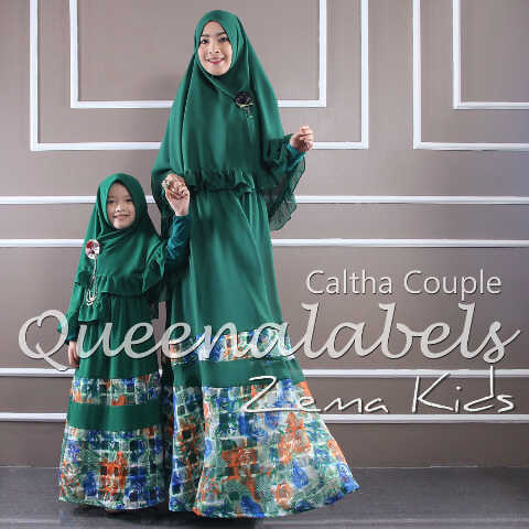 Caltha 3 Hijau Baju Muslim Gamis Modern