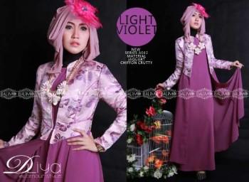 Busana Muslim Kerja Wanita Balimo Dliya Light Violet