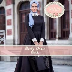 Busana Muslim Pesta Modern Terbaru Berly Dress Black