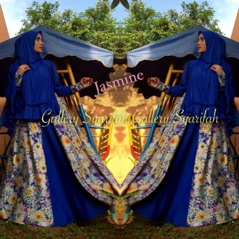 Busana Muslim Syar'i Terbaru Jasmine by Gallery Syarifah Biru Elektrik