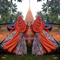Busana Muslim Syar'i Terbaru Jasmine by Gallery Syarifah Orange