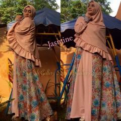 Busana Muslim Syar'i Terbaru Jasmine by Gallery Syarifah Peach