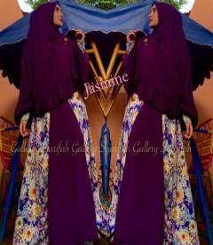 Busana Muslim Syar'i Terbaru Jasmine by Gallery Syarifah Purple
