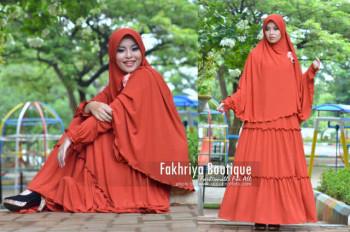 Busana Muslim Syar'i Terbaru Kirana Dress by Fakhria Bata