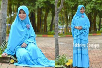 Busana Muslim Syar'i Terbaru Kirana Dress by Fakhria Turquice