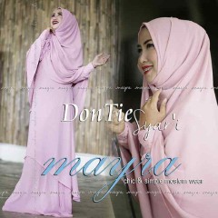 Busana Muslim Terbaru Dontie Syar'i by Mayra Baby Pink