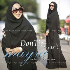 Busana Muslim Terbaru Dontie Syar'i by Mayra Hitam