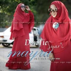 Busana Muslim Terbaru Dontie Syar'i by Mayra Merah