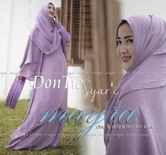 Busana Muslim Terbaru Dontie Syar'i by Mayra Ungu