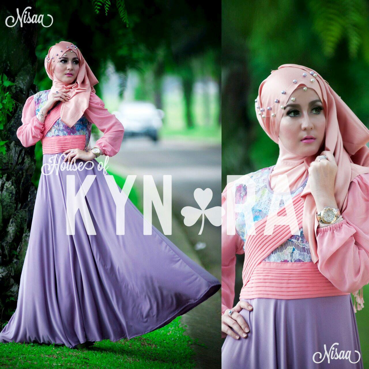 Busana Muslim Terbaru Nisaa by Kynara Lavender