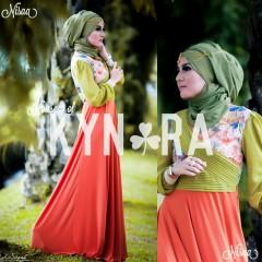 Busana Muslim Terbaru Nisaa by Kynara Orange
