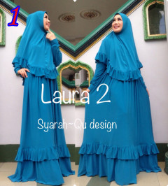 Busana Muslim Wanita Modern Laura vol.2 by Syarahqu Design 1