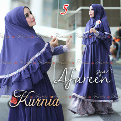 Busana Muslim Wanita Terbaru Afareen Syar'i by Kurnia 5