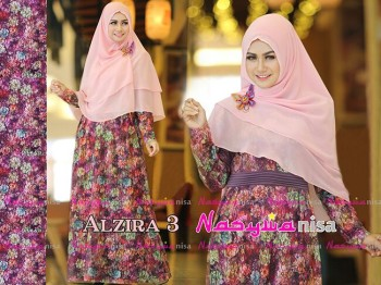 Busana Muslimah Terbaru Al Zira vol.3 by Nasywanisa Purple